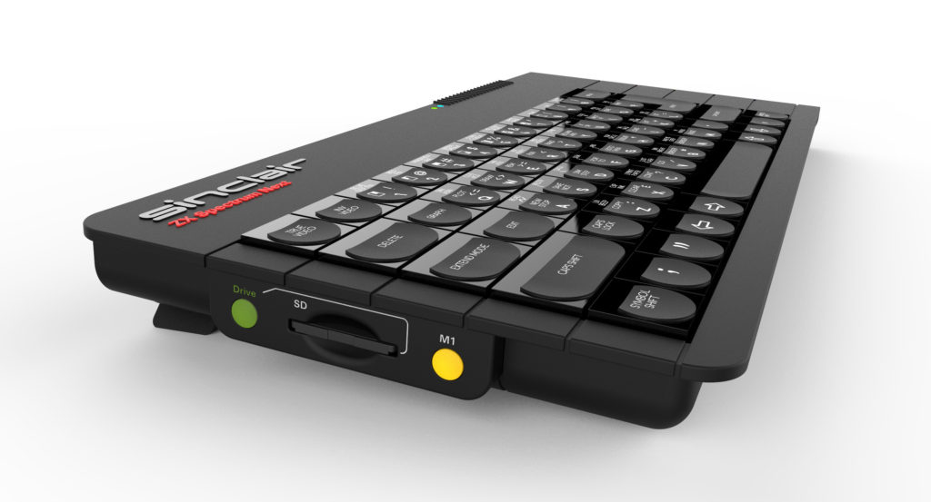 Lateral view of the case design showing SD card, disk and extra function buttons.